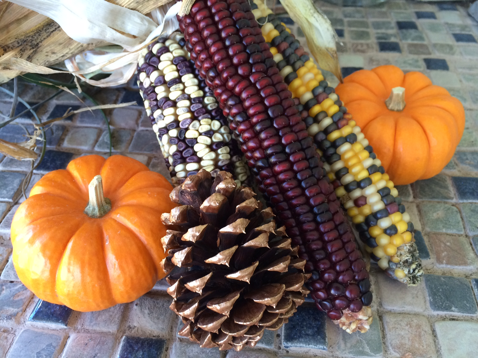 Fall containers- Add pumpkins!