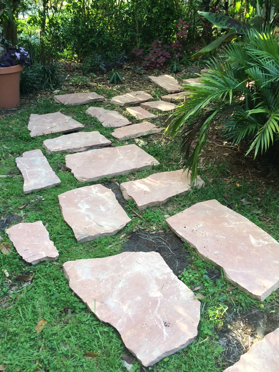 Granite Stepping Stones : Diy stepping stone path
