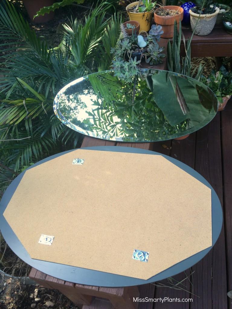 garden mirror installation