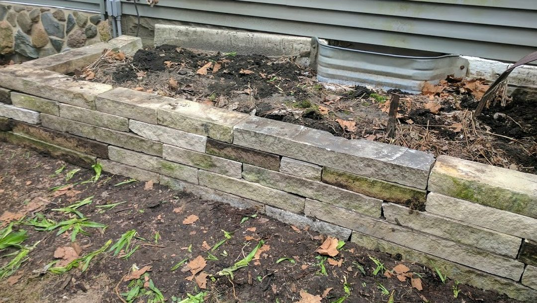 DIY Retaining Wall Makeover